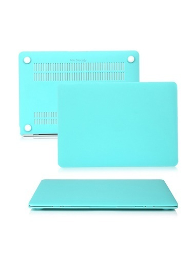 """Mcstorey MacBook Pro A1278 13.3"""" Kılıf Kapak Koruyucu Ruberized Hard Incase Mat Turkuaz"""